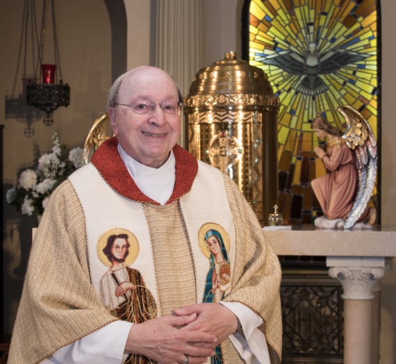 Father Frank is 85!